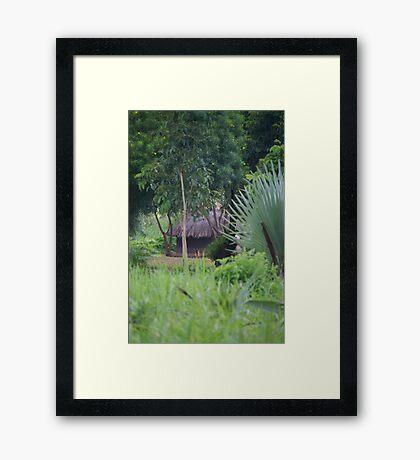 Gulu Hut Framed Print
