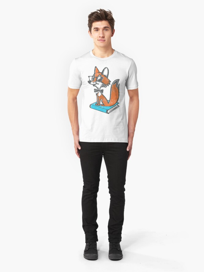 Alternate view of Fox Librarian Slim Fit T-Shirt