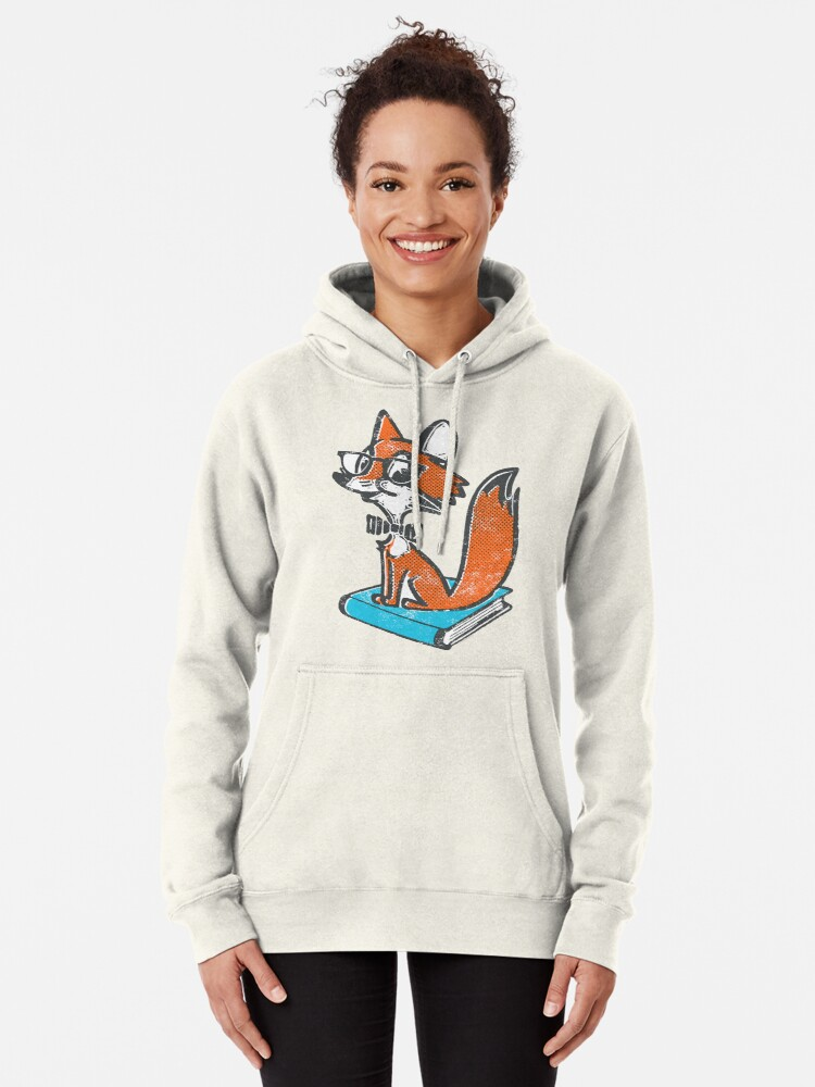 Alternate view of Fox Librarian Pullover Hoodie