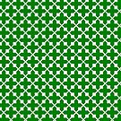 Decorative design ,pattern, textile,covers.Green cross. by starchim01