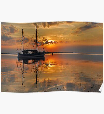 An early summer morning on Lake Grevelingen Poster
