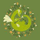 Mama und Baby Dragon von Jacqueline Hurd