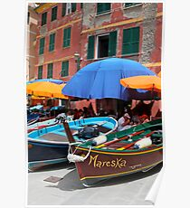 Vernazza Boats Poster