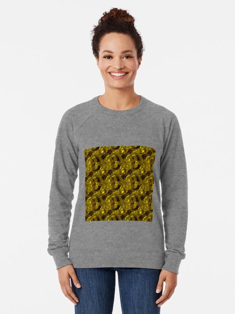 Alternate view of Decorative design ,pattern, textile,cover.Gold. Lightweight Sweatshirt