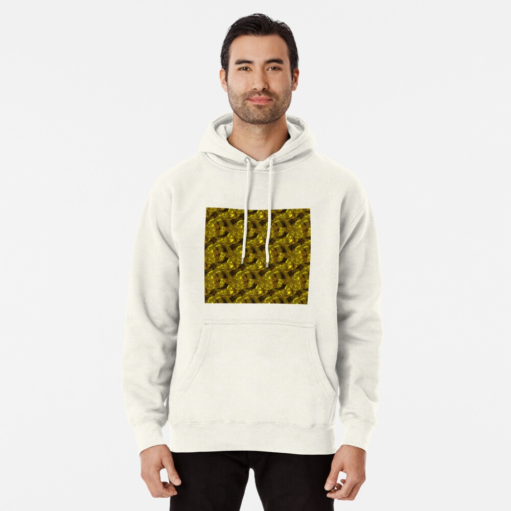 Decorative design ,pattern, textile,cover.Gold. Pullover Hoodie