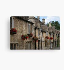 Castle Combe Cottages Canvas Print