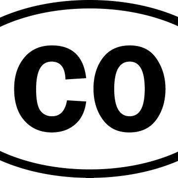 Colorado - CO - oval sticker by welikestuff