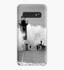 Lighthouse in a storm Case/Skin for Samsung Galaxy
