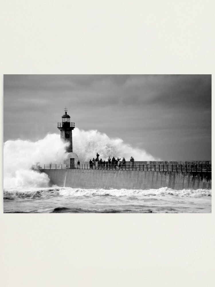 Alternate view of Lighthouse in a storm Photographic Print