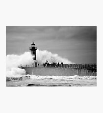 Lighthouse in a storm Photographic Print