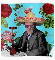 tropische fruede rauchende shisha Poster