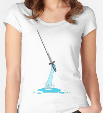 Excalibur and the Lady of the Puddle Women's Fitted Scoop T-Shirt