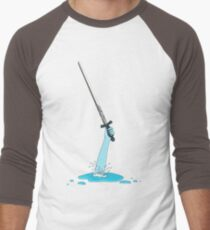 Excalibur and the Lady of the Puddle Men's Baseball ¾ T-Shirt