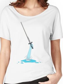 Excalibur and the Lady of the Puddle Women's Relaxed Fit T-Shirt