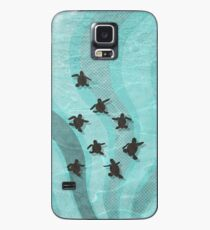 Funda/vinilo para Samsung Galaxy Tortuga boba crías de tortuga marina