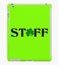 Irische Stab-Klee-Uniform iPad-Hülle & Klebefolie