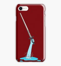 Excalibur and the Lady of the Puddle iPhone Case/Skin