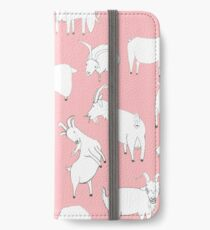 Goats playing - Pink iPhone Wallet/Case/Skin