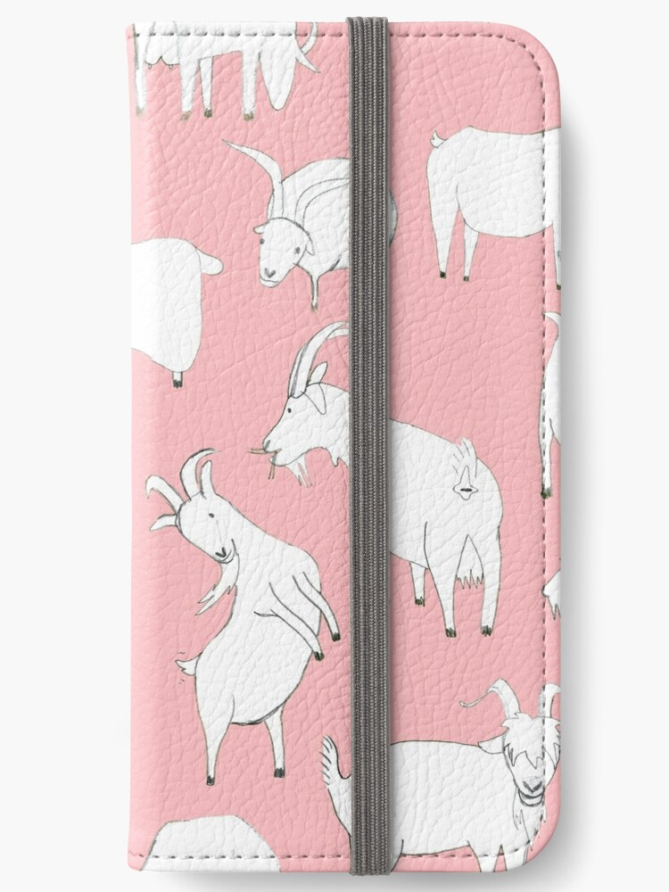 Goats playing - Pink by Vicky Webb