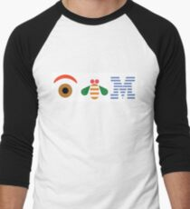 IBM Eye Bee M logo Men's Baseball ¾ T-Shirt