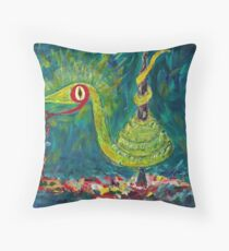 Envy, the Paint Snake  Throw Pillow