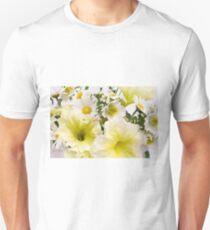 Yellow Petunias And Daisies  T-Shirt