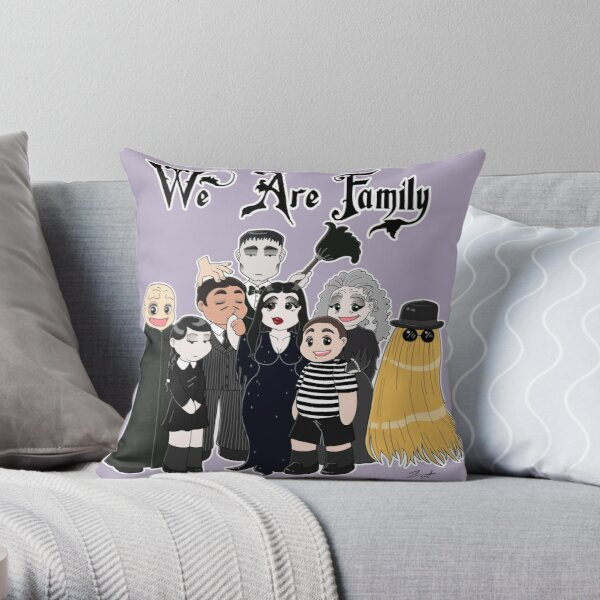 We Are (Addams) Family Throw Pillow