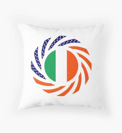 Irish American Multinational Patriot Flag Series Throw Pillow