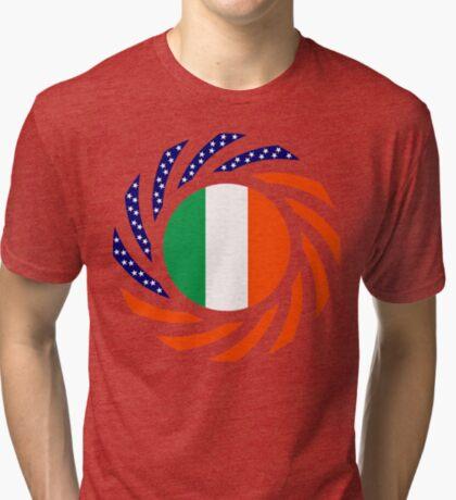 Irish American Multinational Patriot Flag Series Tri-blend T-Shirt