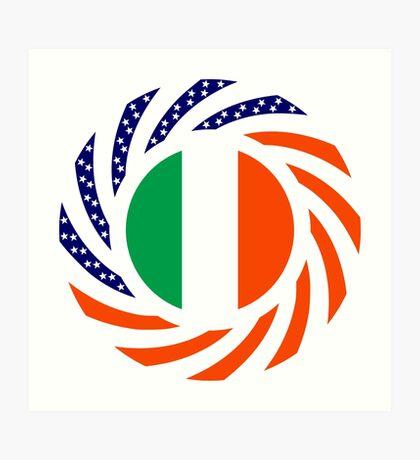 Irish American Multinational Patriot Flag Series Art Print