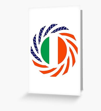 Irish American Multinational Patriot Flag Series Greeting Card