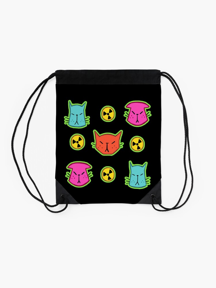 Alternate view of NUCLEAR CATS Drawstring Bag