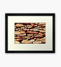 Well placed stonework Framed Print