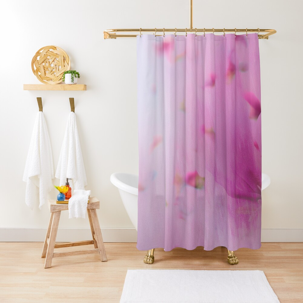 Watercolor Magnolia Shower Curtain
