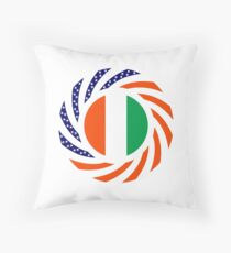 Ivory Coast American Multinational Patriot Flag Series Throw Pillow