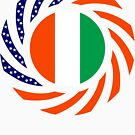 Ivory Coast American Multinational Patriot Flag Series by Carbon-Fibre Media
