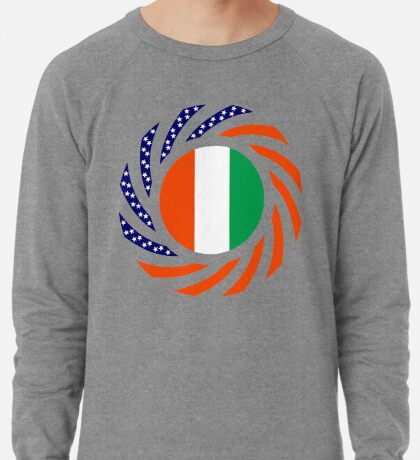 Ivory Coast American Multinational Patriot Flag Series Lightweight Sweatshirt
