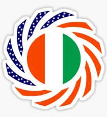 Ivory Coast American Multinational Patriot Flag Series Sticker