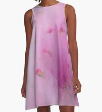 Watercolor Magnolia A-Line Dress
