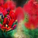 flowers background, digital art by ariadna de raadt