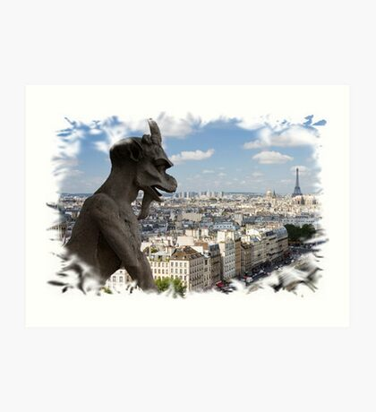 In Homage of the Notre-Dame Cathedral in Paris - LOVE wins in the end! Art Print