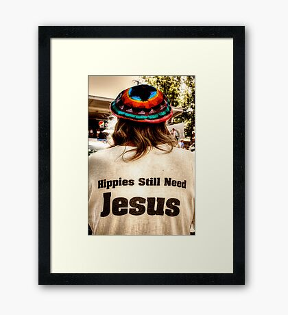 What Would Hippies Do? WWHD Framed Print