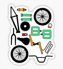 bmx parts Sticker