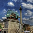 Boat in a Bottle - Trafalgar Square by NeilAlderney