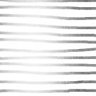 Abstract Tribal Striped Drawing Boho Vintage Minimal Stripes Gold White Silver von SimpleLuxe