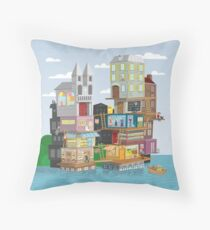 The French Village Build Up Throw Pillow