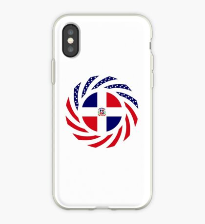 Dominican American Multinational Patriot Flag Series iPhone Case