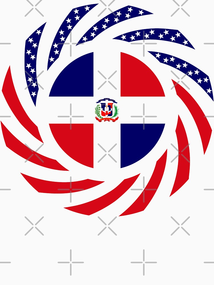 Dominican American Multinational Patriot Flag Series by carbonfibreme