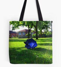 Blue Umbrella-North York Ontario Tote Bag