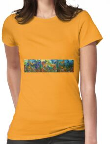 Butterfly - Triptych Womens Fitted T-Shirt